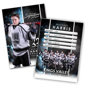 Signature Player - Hockey - V1 - Extraction Trading Card Template