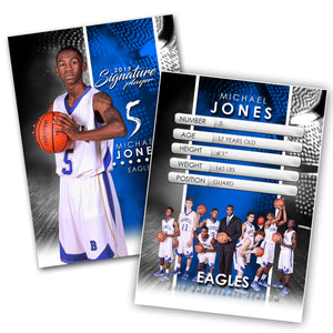 Signature Player - Basketball - V1 - Extraction Trading Card Template Downloadable Template Photo Solutions PSMGraphix