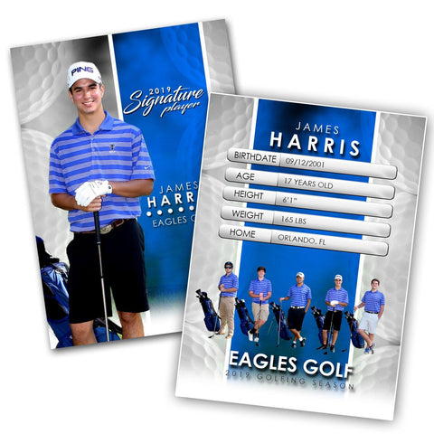 Signature Player - Golf - V1 - Extraction Trading Card Template-Photoshop Template - Photo Solutions