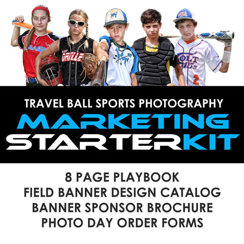 02 All-Star & Travel Ball Marketing - STARTER KIT Photoshop Template -  PSMGraphix