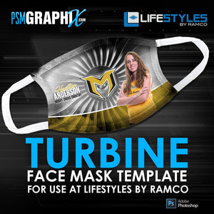 Turbine - Face Mask Template (Ramco)-Photoshop Template - PSMGraphix