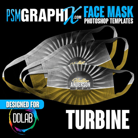 Turbine - Face Mask Template Set (DDLAB) 3 Sizes-Photoshop Template - PSMGraphix