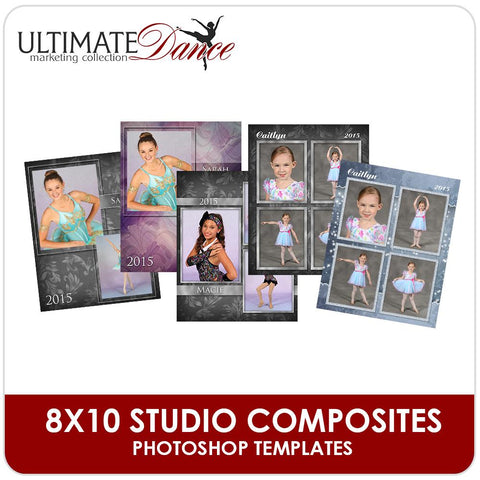 8x10 Multi-Pose Drop In Templates - Ultimate Dance Marketing-Photoshop Template - Photo Solutions