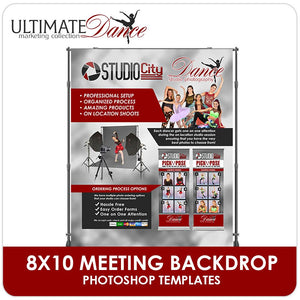 8x10 Meeting Backdrop - Ultimate Dance Marketing-Photoshop Template - Photo Solutions