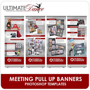 Studio Meeting Pull Up Banner Templates - Ultimate Dance Marketing-Photoshop Template - Photo Solutions