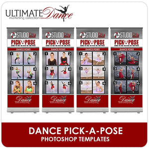 Pick A Pose Banner Stand Templates - Ultimate Dance Marketing-Photoshop Template - Photo Solutions