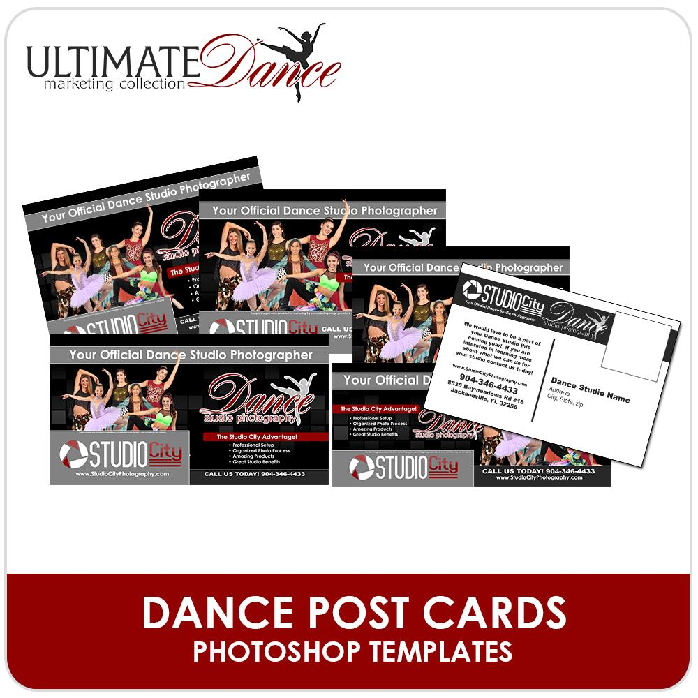 Post Card Mailer Templates - Ultimate Dance Marketing-Photoshop Template - Photo Solutions