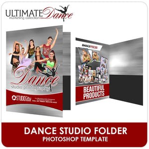 Studio Folder Template - Ultimate Dance Marketing-Photoshop Template - Photo Solutions