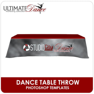 Table Cloth Set  - Ultimate Dance Marketing-Photoshop Template - Photo Solutions