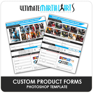 Custom Product Order Forms - Ultimate Martial Arts Marketing-Photoshop Template - Photo Solutions