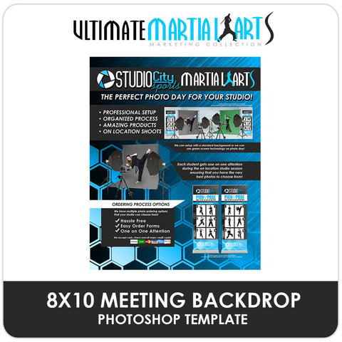 Studio Meeting Backdrop - Ultimate Martial Arts Marketing-Photoshop Template - Photo Solutions