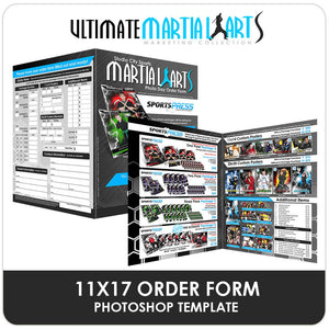 11x17 Order Form - Ultimate Martial Arts Marketing Downloadable Template Photo Solutions PSMGraphix
