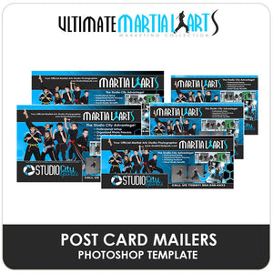 Post Card Mailers - Ultimate Martial Arts Marketing Downloadable Template Photo Solutions PSMGraphix