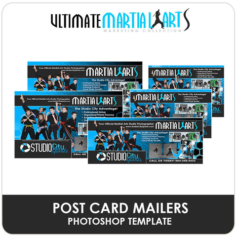 Post Card Mailers - Ultimate Martial Arts Marketing-Photoshop Template - Photo Solutions