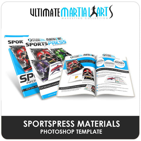 SportsPress Materials - Ultimate Martial Arts Marketing-Photoshop Template - Photo Solutions