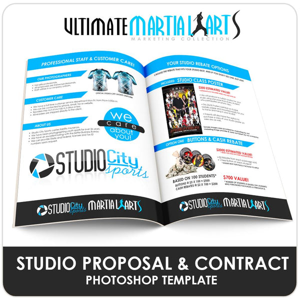 Studio Proposal - Ultimate Martial Arts Marketing-Photoshop Template - Photo Solutions