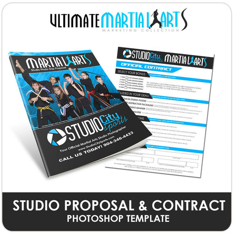 Studio Proposal - Ultimate Martial Arts Marketing Downloadable Template Photo Solutions PSMGraphix