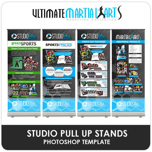 Studio Pull Up Banners - Ultimate Martial Arts Marketing-Photoshop Template - Photo Solutions