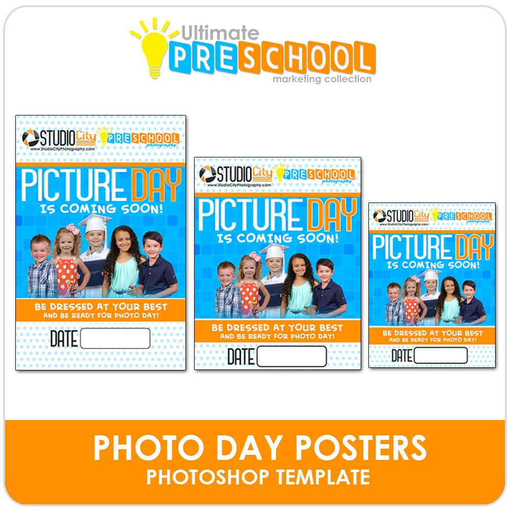 Photo Day Posters/Flyers - Ultimate PreSchool Marketing-Photoshop Template - Photo Solutions