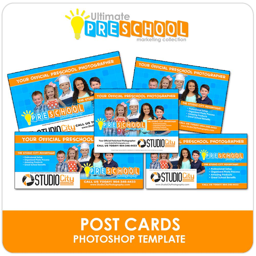 Post Card Mailers - Ultimate PreSchool Marketing-Photoshop Template - Photo Solutions