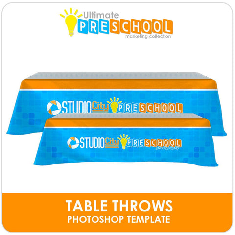 Table Throw - Ultimate PreSchool Marketing