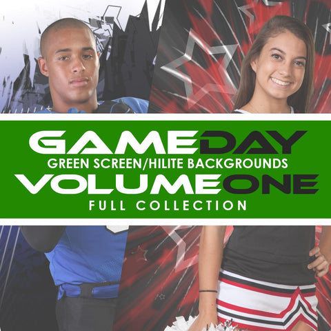 01 Full Set - V1 - Green Screen & HiLite Background Templates-Photoshop Template - Photo Solutions