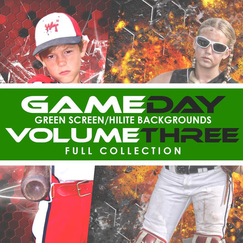 03 Full Set - V3 - Green Screen & HiLite Background Templates Downloadable Template Photo Solutions PSMGraphix