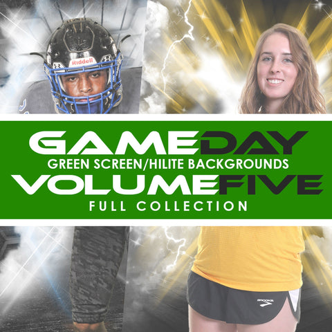05 Full Set - V5 - Green Screen & HiLite Background Templates-Photoshop Template - Photo Solutions