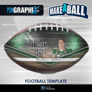 Vapor - V.1 - Football (Full Size)  - Make-A-Ball Photoshop Template-Photoshop Template - PSMGraphix