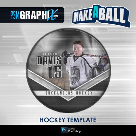 Vapor - V.1 - Hockey Puck - Make-A-Ball Photoshop Template-Photoshop Template - PSMGraphix