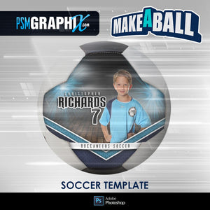 Vapor - V.1 - Soccer Ball (Full Size)  - Make-A-Ball Photoshop Template-Photoshop Template - PSMGraphix