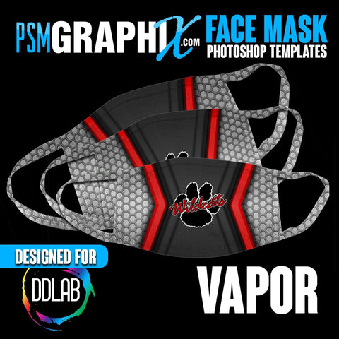 Vapor - Face Mask Template Set (DDLAB) 3 Sizes-Photoshop Template - PSMGraphix