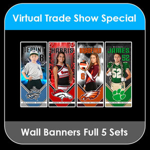 2021 Special - ENTIRE SET Wall Banner Player Template Collection-Photoshop Template - PSMGraphix