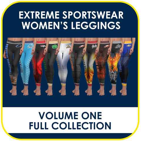 01 - Volume 1 - Women's Leggings Cut & Sew Extreme Sportswear Collection-Photoshop Template - PSMGraphix