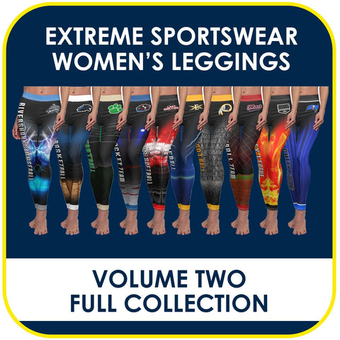 02 - Volume 2 - Women's Leggings Cut & Sew Extreme Sportswear Collection-Photoshop Template - PSMGraphix