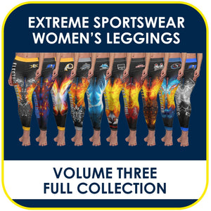 03 - Volume 3 - Women's Leggings Cut & Sew Extreme Sportswear Collection-Photoshop Template - PSMGraphix