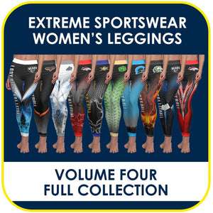 04 - Volume 4 - Women's Leggings Cut & Sew Extreme Sportswear Collection-Photoshop Template - PSMGraphix