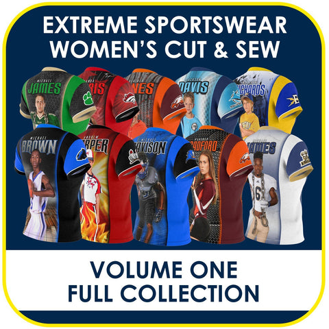 01 - Volume 1 - Women's Cut & Sew Extreme Sportswear Collection-Photoshop Template - PSMGraphix