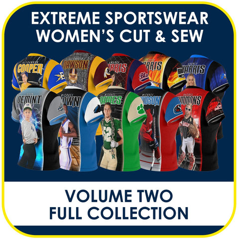 02 - Volume 2 - Women's Cut & Sew Extreme Sportswear Collection-Photoshop Template - PSMGraphix