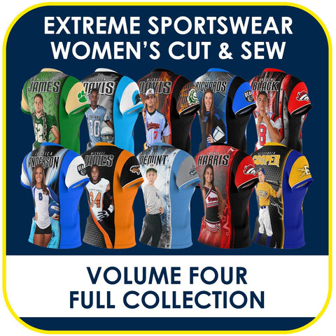 04 - Volume 4 - Women's Cut & Sew Extreme Sportswear Collection-Photoshop Template - PSMGraphix