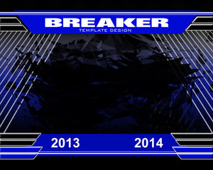 Breaker v.1 - Xtreme Team Photoshop Template -  PSMGraphix