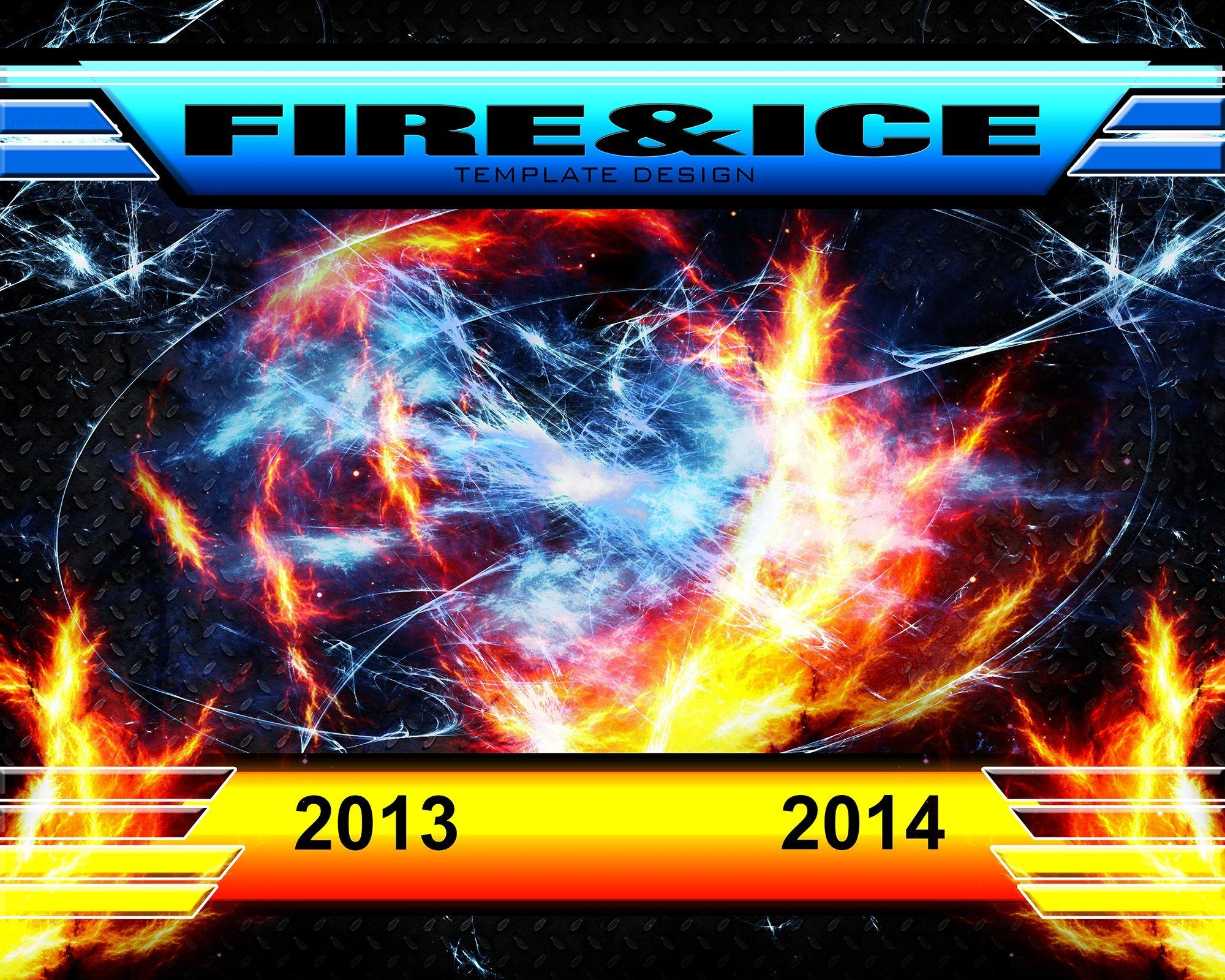 Fire & Ice v.3 - Xtreme Team-Photoshop Template - Photo Solutions