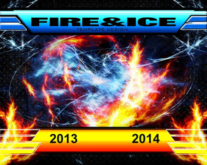 Fire & Ice v.3 - Xtreme Team Downloadable Template Photo Solutions PSMGraphix