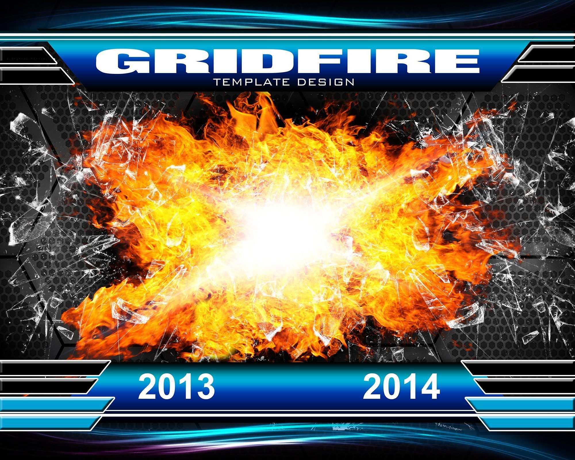 Grid Fire v.3 - Xtreme Team Downloadable Template Photo Solutions PSMGraphix