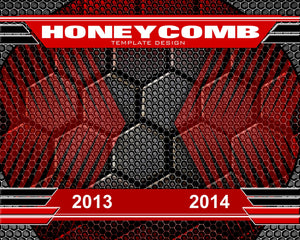 Honeycomb v.1 - Xtreme Team Downloadable Template Photo Solutions PSMGraphix