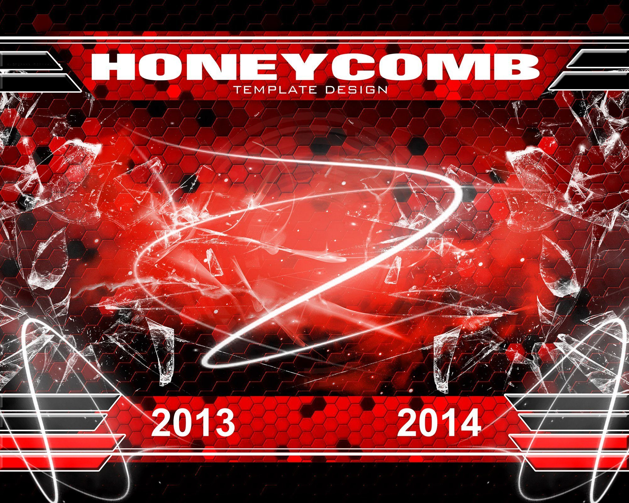 Honeycomb v.3 - Xtreme Team Downloadable Template Photo Solutions PSMGraphix
