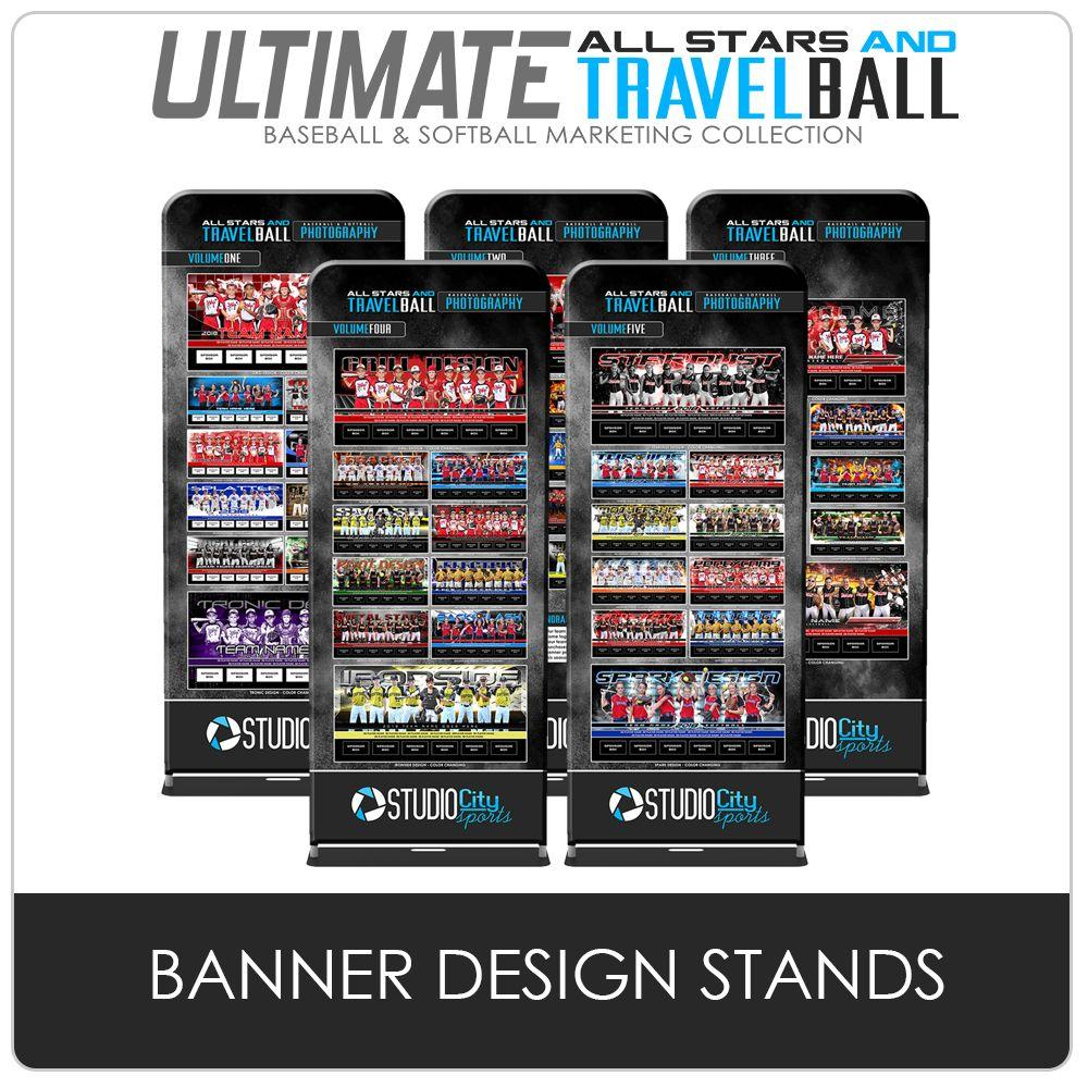 Team Banner Design Stands - Ultimate All-Star & Travel Ball Marketing-Photoshop Template - Photo Solutions