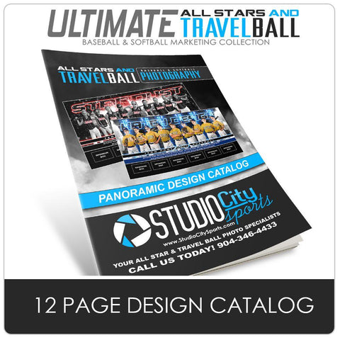 12 Page Field Banner Catalog - Ultimate All-Star & Travel Ball Marketing Photoshop Template -  PSMGraphix