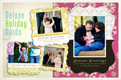 Deluxe Holiday Cards Full Collection Downloadable Template Graphic Authority PSMGraphix