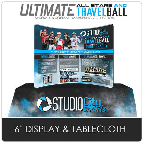Table Cloth & Display - Ultimate All-Star & Travel Ball Marketing Photoshop Template -  PSMGraphix